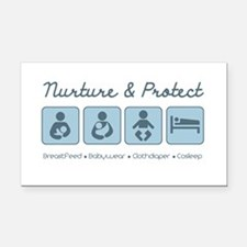 Attachment Parenting Rectangle Car Magnet