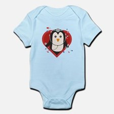 Penguin doctor with heart Body Suit