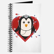 Penguin doctor with heart Journal