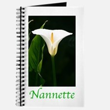 Cool White calla lily Journal