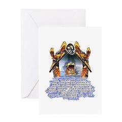 Viking 13th worrier t-shirts gifts Greeting Card