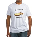 Christmas Bagels Fitted T-Shirt