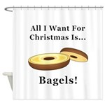 Christmas Bagels Shower Curtain