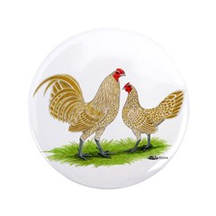 "Buff Laced Bantams 3.5"" Button (100 pack)"