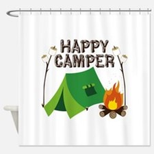 Happy Camper Shower Curtain