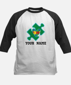 Autism Puzzle Piece Heart Personalized Baseball Je