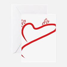 Love Cyclin Greeting Cards