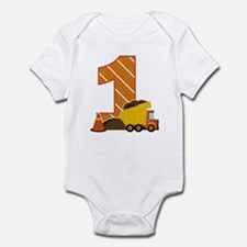 Construction 1st Birthday Body Suit