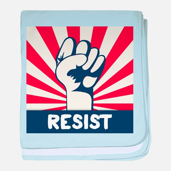 RESIST Fist baby blanket