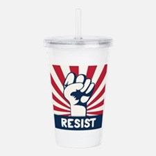 RESIST Fist Acrylic Double-wall Tumbler