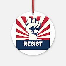 RESIST Fist Round Ornament