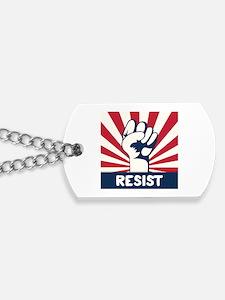 RESIST Fist Dog Tags