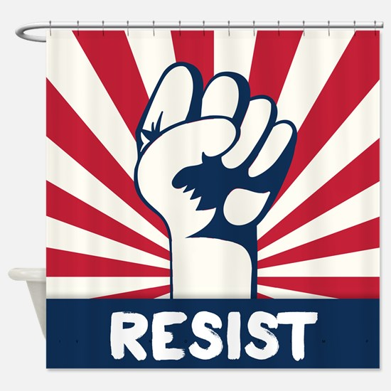 RESIST Fist Shower Curtain