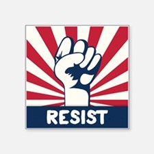 "RESIST Fist Square Sticker 3"" x 3"""
