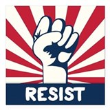 Anti donald trump resist Square Car Magnets