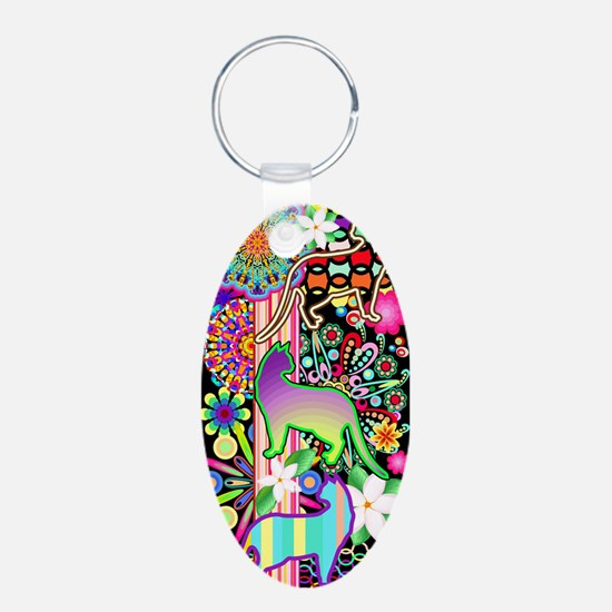 Mandalas, Cats & Flowers Fantasy Pattern Keychains
