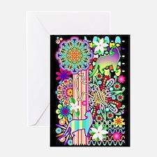 Mandalas, Cats & Flowers Fantasy Pattern Greeting