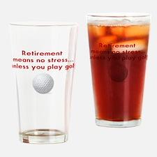 Golf in retirement Drinking Glass