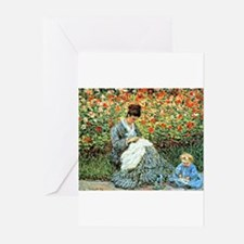 Camille Monet and Child Greeting Cards