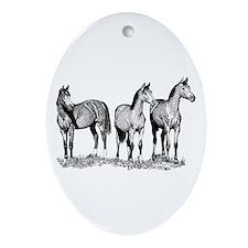 Arabian Horses Oval Ornament