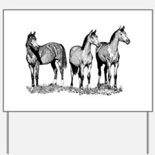 Arabian Horses Yard Sign