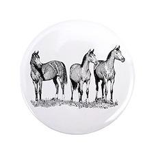 "Arabian Horses 3.5"" Button"