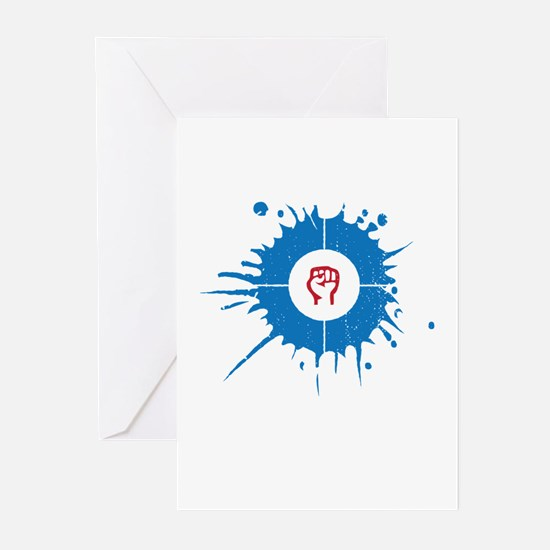 House / resist Greeting Cards