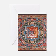 Buddhist Mandala Greeting Cards