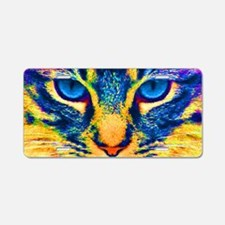 Cute Cats eyes Aluminum License Plate