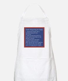 Cloth Diaper Instructions for BBQ Apron