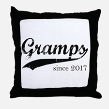 Gramps since 2017 Throw Pillow