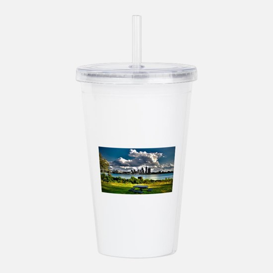 Unique Beautiful sky Acrylic Double-wall Tumbler