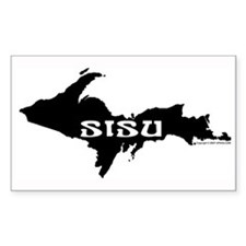SISU - Michigan's Upper Penin Sticker (Rectangular