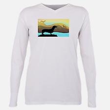 dachshunds by the sea Ash Grey T-Shirt
