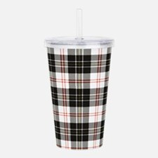 Rustic Plaid Pattern: Acrylic Double-wall Tumbler