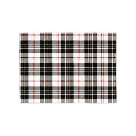 Rustic Plaid Pattern: Red 5u0027x7u0027Area Rug