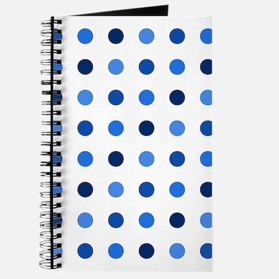 Blue, Tricolor: Polka Dots Pattern (Med) Journal