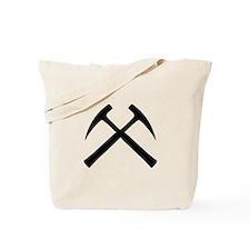 Crossed Rock Hammers Tote Bag