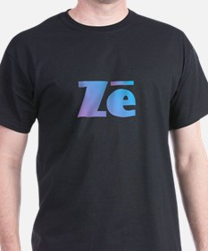 Ze - Ze Blue and Purple T-Shirt
