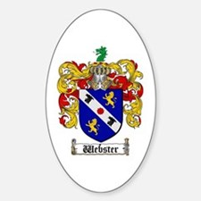 Webster Coat of Arms Oval Decal