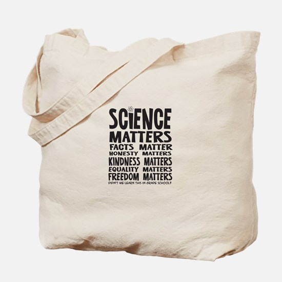 Science Matters Facts Matter Tote Bag