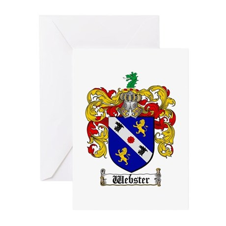 Webster Coat of Arms Greeting Cards (Pk of 10)