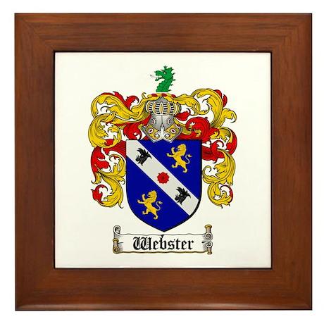 Webster Coat of Arms Framed Tile