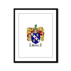 Webster Coat of Arms Framed Panel Print