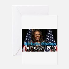 Michelle Obama For President 2020 Greeting Cards