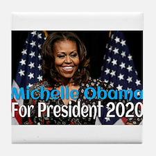 Michelle Obama For President 2020 Tile Coaster