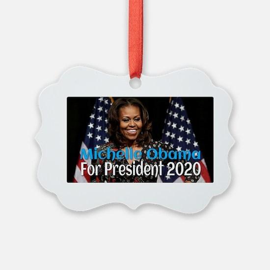 Michelle Obama For President 2020 Ornament