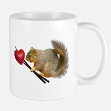 Squirrel Chopsticks Heart Mugs
