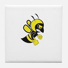 flying hell bee Tile Coaster