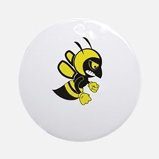 flying hell bee Round Ornament